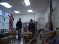 Joep in Atelier van Peter Klashorst te Amsterdam.
